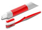 imagem escova e pasta de dentes