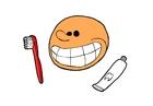 imagem escovar os dentes