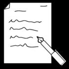 Página para colorir escrever