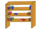 imagem estante de livros