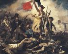 imagem Eugene Delacroix - A Liberdade Guiando o Povo - A Revolução Francesa