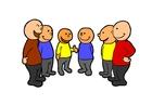 imagem falar em grupo