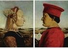 imagem Federico da Montefeltro e sua esposa Battista Sforza