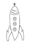 Página para colorir foguete