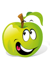 imagem fruta - maçã verde