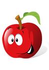 imagem fruta - maçã vermelha