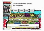 imagem frutas e verduras frescas