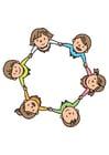 imagem grupo de crianças