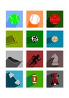 imagem ícones de esporte