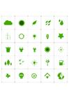 imagem ícones ecológicos