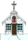 imagem igreja no inverno