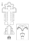 Página para colorir igreja romana