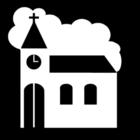 Página para colorir igreja