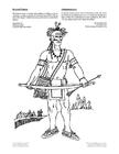 Página para colorir índios iroquois