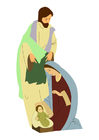 imagem José, Maria e Jesus