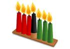 imagem Kwanzaa - velas