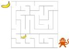 imagem labirinto - macaco e banana