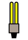 imagem lâmpada fluorescente compacta