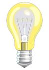 imagem lâmpada ligada