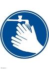 imagem lave as mãos