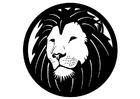 Página para colorir leão