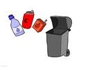 imagem lixo reciclável - papel, plástico e metal