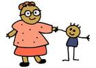 imagem mão e filho
