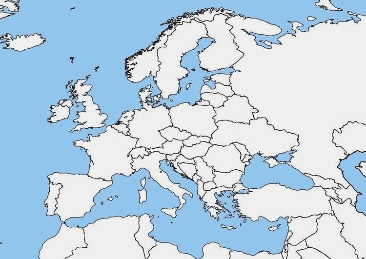 mapa europa em branco Imagem mapa branco da Europa   img 7464 mapa europa em branco