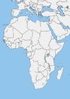 imagem mapa branco da África