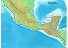 imagem mapa da civilização Maya