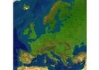 imagem mapa de relevo da Europa