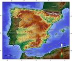 imagem mapa topográfico da Espanha