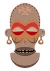 imagem máscara africana - Zaire e Angola