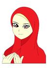 imagem menina com lenço na cabeça