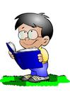 imagem menino com livro