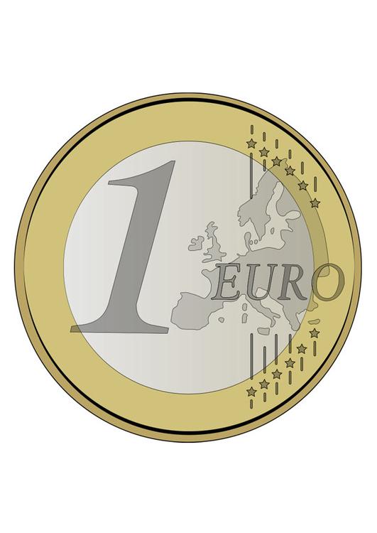 Imagem Moeda De 1 Euro Imagens Gratis Para Imprimir