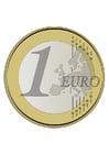 imagem moeda de 1 Euro