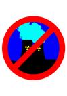 imagem não à energia nuclear