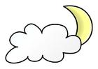 imagem noite nublada