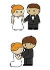 imagem noivo e noiva