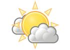 imagem nublado com sol