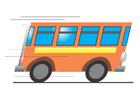 imagem ônibus em movimento