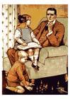 imagem pai com crianças
