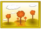 imagem paisagem de outono