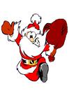 imagem Papai Noel correndo