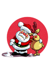imagem Papai Noel e a rena