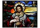 imagem Páscoa - Jesus com um cordeiro