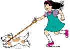 imagem passear com o cachorro