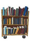 imagem prateleira de livros