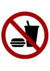 imagem proibido alimentos e bebidas
